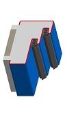 Umfassungszarge / Blockzarge mit Doppelfalz