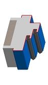 Umfassungszarge / Blockzarge mit Doppelfalz und Zierfalz