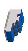 Umfassungszarge / Blockzarge mit Doppelfalz und Dehnungsfuge mittig
