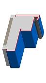 Umfassungszarge / Blockzarge für Turnhallen