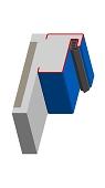 Blockzarge für Turnhallen