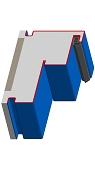 Umfassungszarge/Blockzarge für Turnhallen mit Schattennut