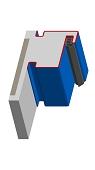 Blockzarge für Turnhallen mit Schattennut