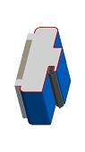 Umfassungszarge/Blockzarge mit Zierfalz und Rundspiegel