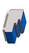Umfassungszarge/Blockzarge mit Doppelfalz und Rundspiegel