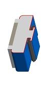 Umfassungszarge/Blockzarge als Doppeltürzarge mit Rundspiegel