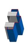 Umfassungszarge/Blockzarge als Pendeltürzarge