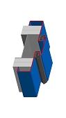 Umfassungszarge/Blockzarge als Doppeltürzarge