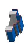 Umfassungszarge/Blockzarge mit Doppelfalz und Zierfalz