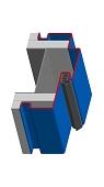 Umfassungszarge/Blockzarge mit Zierfalz und Schattennut
