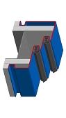 Umfassungszarge/Blockzarge mit Doppelfalz und Schattennut