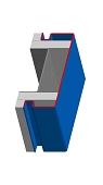 Umfassungszarge/Blockzarge als Durchgangszarge mit Schattennut