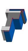 Umfassungszarge/Blockzargen für Turnhallen