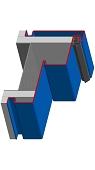 Umfassungszarge/Blockzargen für Turnhallen mit Schattennut