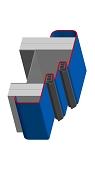 Umfassungszarge mit Doppelfalz und Rundspiegel