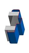 Umfassungszarge/Blockzarge als Pendeltürzarge mit Rundspiegel