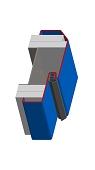 Umfassungszarge/Blockzarge mit schräger Leibung