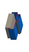 Umfassungszarge / Blockzarge zweischalig steckbar
