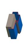 Umfassungszarge / Blockzarge zweischalig mit Zierfalz
