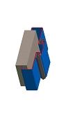 Umfassunszarge / Blockzarge als Doppeltürzarge zweischalig