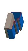 Umfassungszarge zweischalig mit Doppelfalz