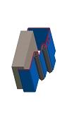 Umfassungszarge zweischalig mit Doppelfalz und MW-Toleranz