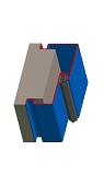 Umfassungszarge / Blockzarge zweischalig mit Schattennut