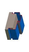 Umfassungszarge / Blockzarge zweischalig mit Zierfalz und Schattennut
