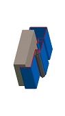 Umfassungszarge / Blockzarge dreischalig mit Dehnungsfuge mittig