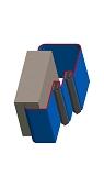 Umfassungszarge / Blockzarge zweischalig mit Doppelfalz und Rundspiegel