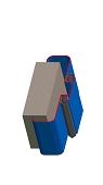 Umfassungszarge / Blockzarge als Doppeltürzarge zweischalig mit Rundspiegel