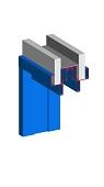 Schiebetürzarge mit Einlaufkasten für Ständerwerk